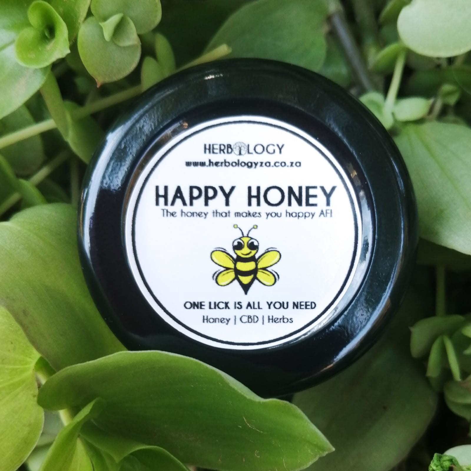 Happy AF honey, infused with the herbal goodness of Happy Caps