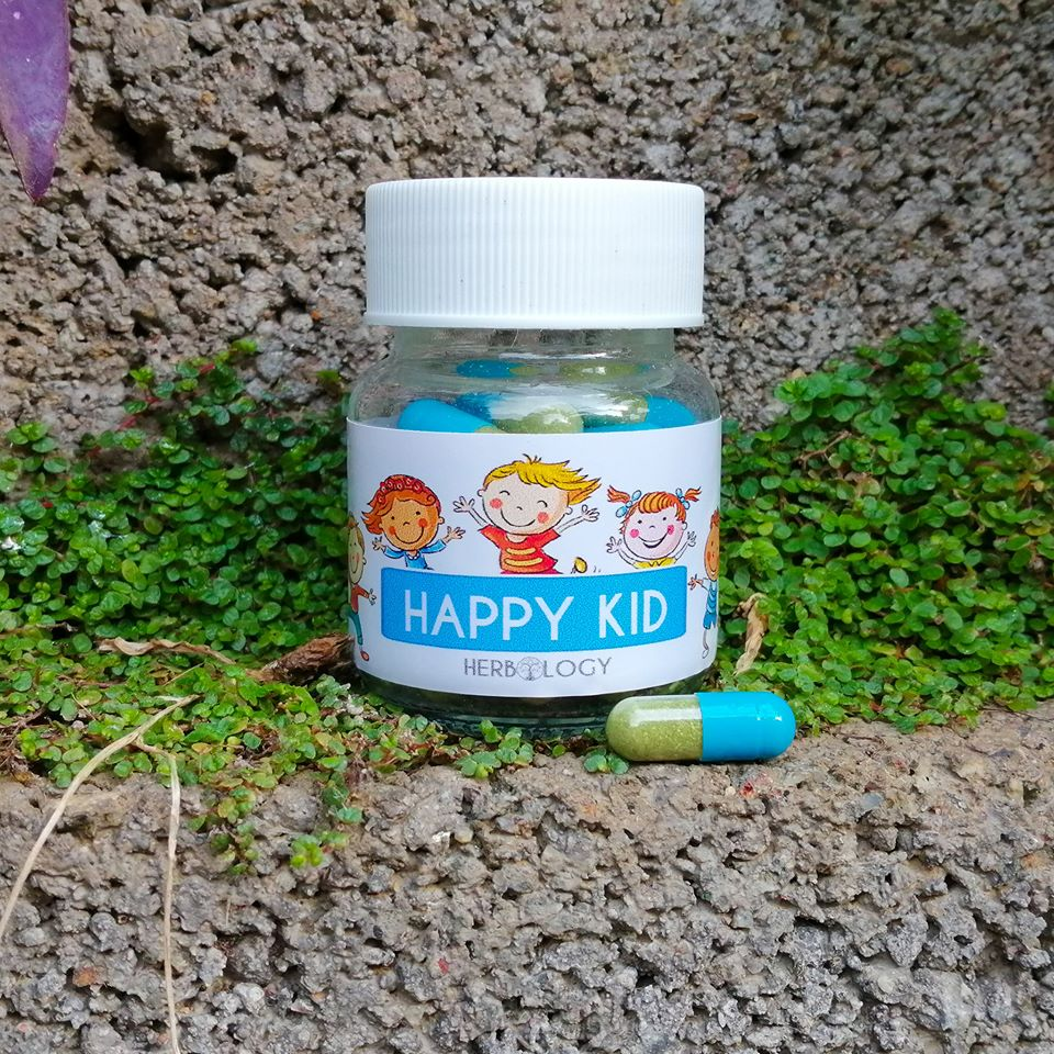 Happy Kid Caps by Herbology are for emotional wellness