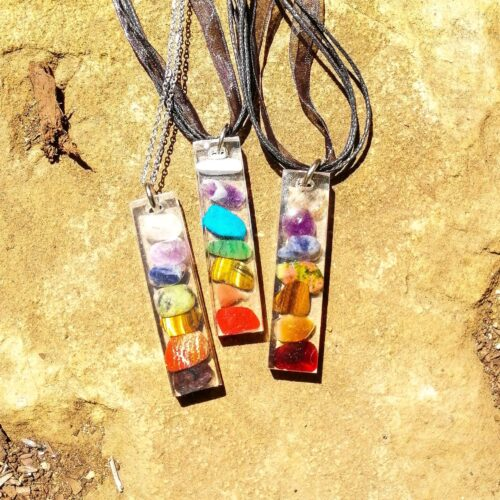 Herbology Resin Chakra Balance Necklace